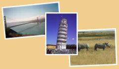 Startseite Urlaubstagebücher Bild02 - Golden Gate Bridge San Francisco, Schiefer Turm Pisa, Nashörner Etosha-Nationalpark