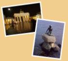 Startseite Urlaubstagebücher Bild03 - Brandenburger Tor Berlin, kleine Meerjungfrau Kopenhagen