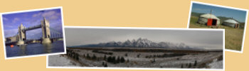 Startseite Urlaubstagebücher Bild05 - Tower Bridge London, Grand Teton National Park, mongolische Jurte