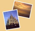 Startseite Urlaubstagebücher Bild06 - Sacré-Cœur de Montmartre Paris, Sonnenuntergang bei Capbreton