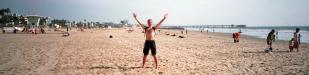 ich am Strand: ich am Strand von Venice Beach