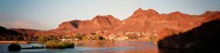 Colorado River: der Blick von unserem Zeltplatz über den Colorado River