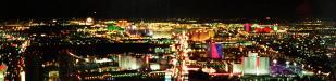 Las Vegas: Las Vegas bei Nacht vom Stratosphere Tower aus aufgenommen