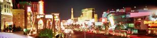 Strip: der Strip von Las Vegas vom New York New York aus gesehen