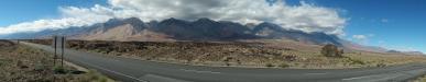 Sierra Nevada: wir fahren von Bishop, Kalifornien, weiter Richtung Süden die Ostflanke der Sierra Nevada entlang