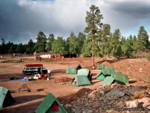 unser Zeltplatz: unser Zeltplatz am Grand Canyon