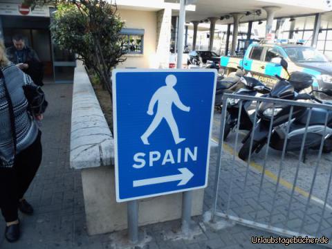 Grenze von Gibraltar nach Spanien: Grenze von Gibraltar nach Spanien