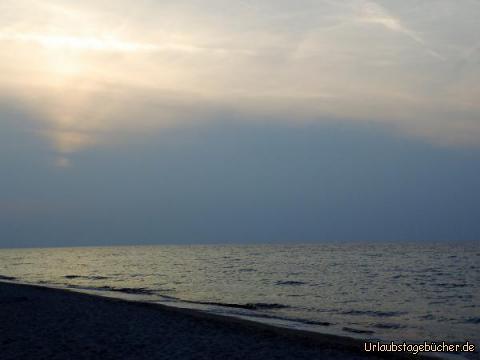 Sonnenuntergang am Strand von Marmari: Sonnenuntergang am Strand von Marmari