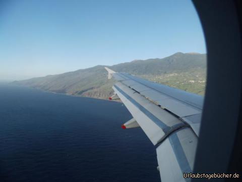 Anflug auf La Palma: Anflug auf La Palma