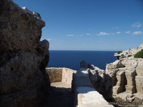 historische Siedlung am Cape de Cavalleria: historische Siedlung am Cape de Cavalleria