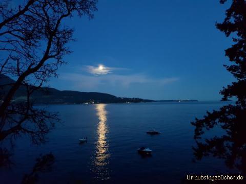 Bowen Island abends: Aussicht Ferienwohnung auf Bowen Island am Abend